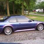 This Honda was painted using our Blue Purple flip paint chameleon pearl pigment.