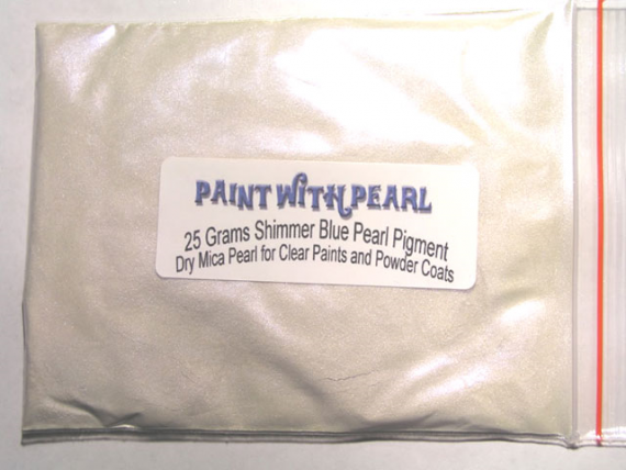 25 gram bag of Blue Shimmer Ghost Pearl