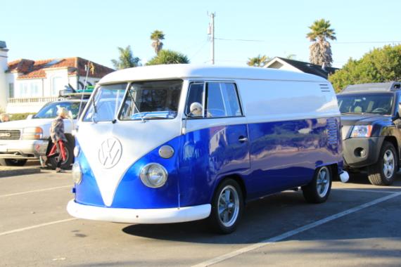 Royal Blue Candy Pearls VW Micro Bus Van.