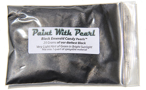25 Gram Bag of our Darkest Black yet, Black Emerald Candy Pearls.