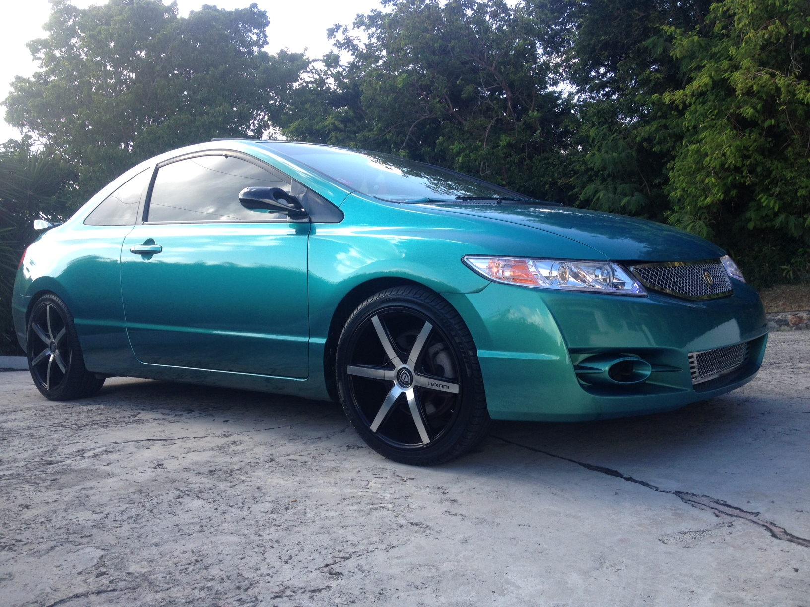 Blue Green Flip Carribean Gold Honda Civic Paint With Pearl