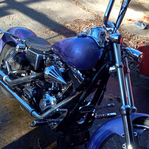 Using Purple Candy on a Chopper takes guts, but this guy pulled it off.