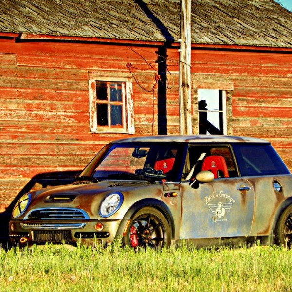 This is no rust bucket mini cooper. It is an effects paint that is getting lots of notoriety for home made DIY custom paint jobs.